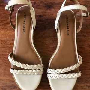 White Wedge Sandals, Lucky Brand